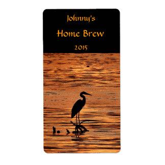Heron at Sunset Beer Label
