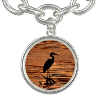 Heron at Sunset Charm Bracelet