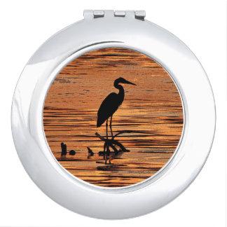 Heron at Sunset Cosmetic Mirror