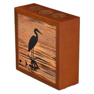 Heron at Sunset Desk Organizer