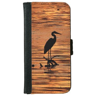 Heron at Sunset iPhone 6 Wallet Case