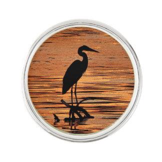 Heron at Sunset Lapel Pin