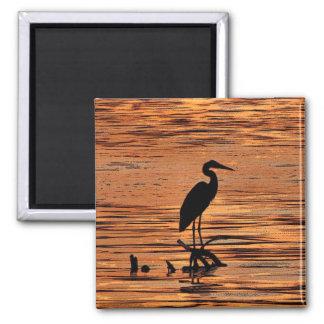 Heron at Sunset Magnet
