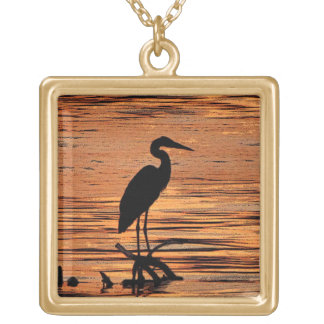 Heron at Sunset Necklace