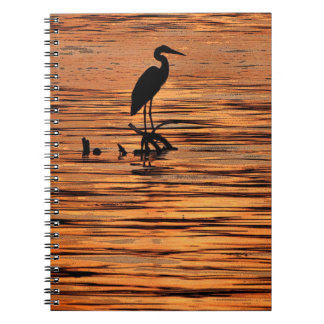 Heron at Sunset Notebook