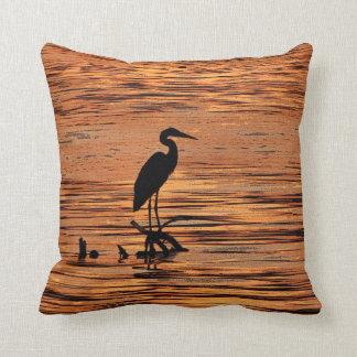 Heron at Sunset Pillow