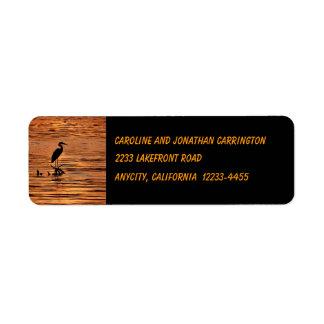 Heron at Sunset Return Address Custom Return Address Labels