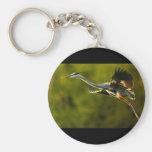 heron basic round button keychain