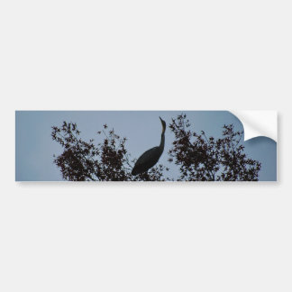 Heron bird in a tree bumper sticker