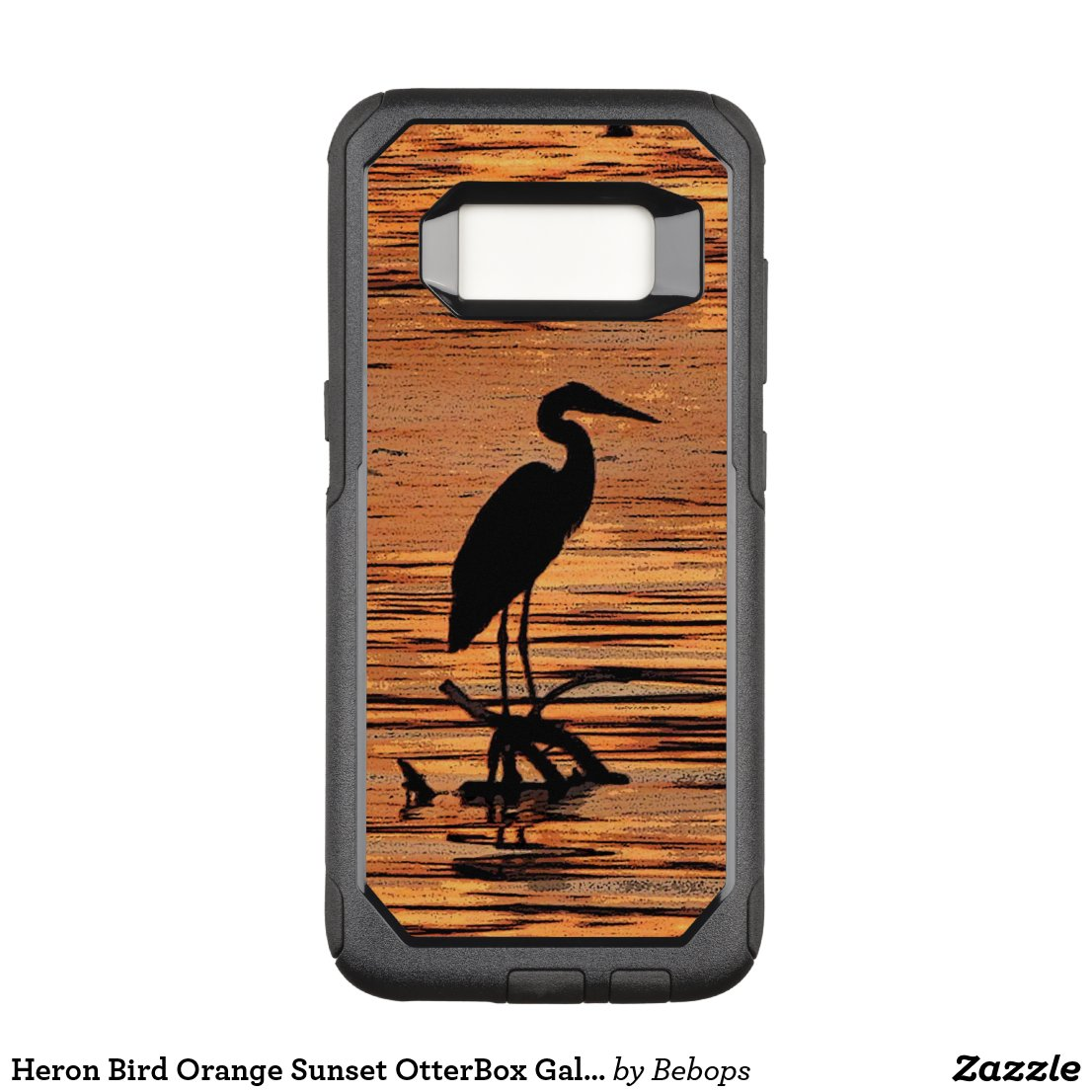 Heron Bird Orange Sunset OtterBox Galaxy S8 Case