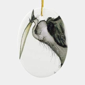 heron bird, tony fernandes ceramic ornament