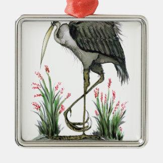 Heron bird, tony fernandes metal ornament