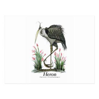 Heron bird, tony fernandes postcard