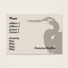 Heron Bird Wildlife Animals Wetlands Business Card at Zazzle