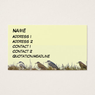 Heron Bird Wildlife Animals Wetlands Business Card