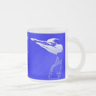 Heron Bird Wildlife Animals Wetlands Frosted Glass Coffee Mug