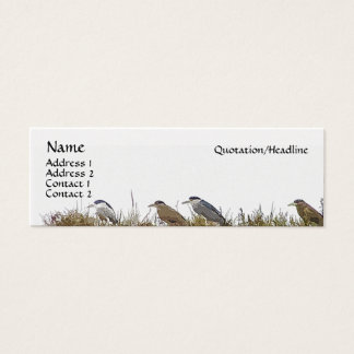 Heron Bird Wildlife Animals Wetlands Mini Business Card