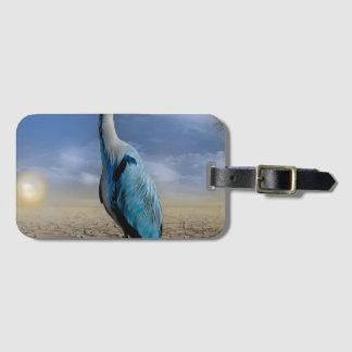 Heron bird wings custom personalize Anniversaries Bag Tag