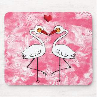 Heron Birds In Love Mouse Pad