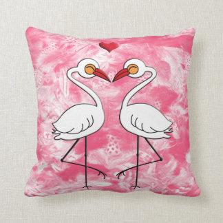 Heron Birds In Love Throw Pillow