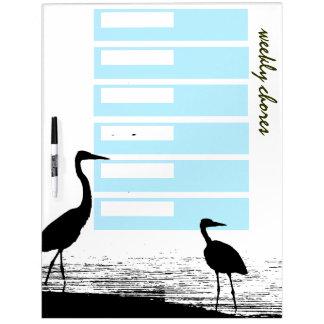 Heron Birds Weekly Chores Board