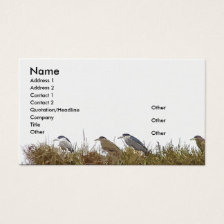 Heron Birds Wildlife Animal Wetlands Business Card