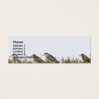 Heron Birds Wildlife Animal Wetlands Mini Business Card