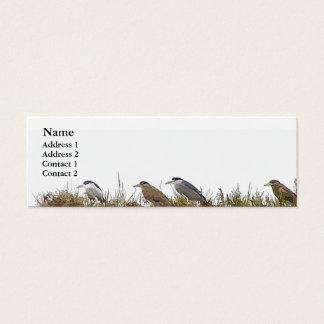 Heron Birds Wildlife Animal Wetlands Mini Business Card