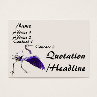 Heron Birds Wildlife Animals Business Card