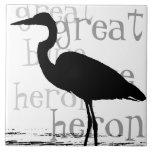 "Heron Birds Wildlife Animals Ceramic Tile<br><div class=""desc"">Beautiful  Great Blue Heron Bird   digital art from photography is on this Tile.</div>"