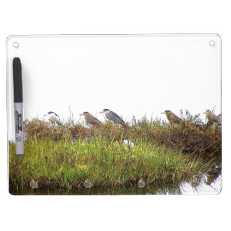 Heron Birds Wildlife Animals Dry Erase Board With Keychain Holder