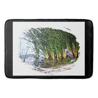 Heron Birds Wildlife Animals River Reeds Bath Mat
