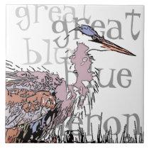 Heron Birds Wildlife Animals Tile