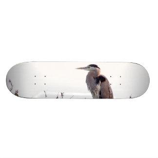 Heron Birds Wildlife Animals Wetlands Skateboard Deck