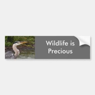 Heron Car Bumper Sticker