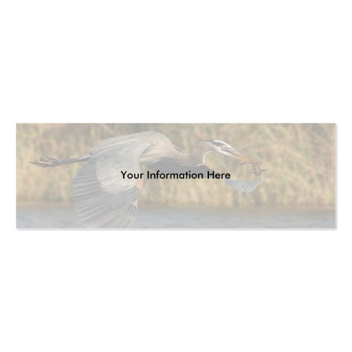 heron Double-Sided mini business cards (Pack of 20)