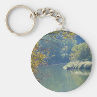 Heron by the River Keychain