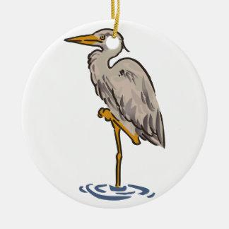 Heron Ceramic Ornament
