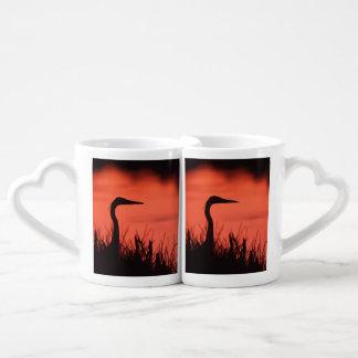 heron coffee mug set