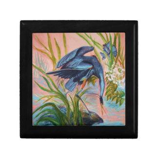 Heron Courtship Jewelry Box