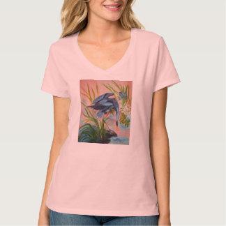 Heron Courtship T-shirt