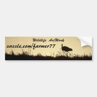 Heron Egret Birds Wildlife Animals Wetlands Bumper Sticker
