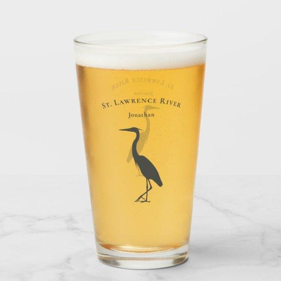 Heron Egret silhouette coastal wetlands bird Glass
