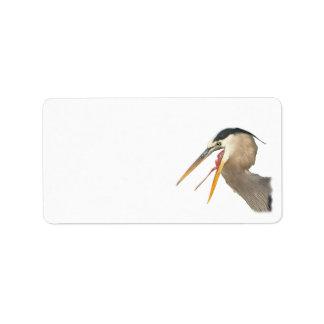Heron Exposure Label