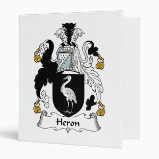 Heron Family Crest 3 Ring Binder