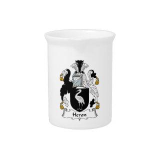 Heron Family Crest Beverage Pitcher