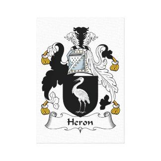 Heron Family Crest Canvas Print