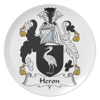 Heron Family Crest Dinner Plate