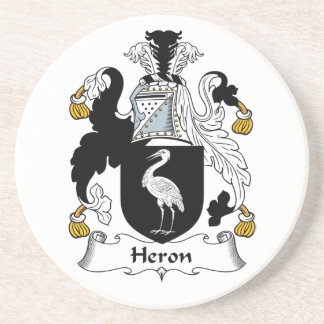 Heron Family Crest Drink Coasters