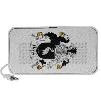 Heron Family Crest Laptop Speaker
